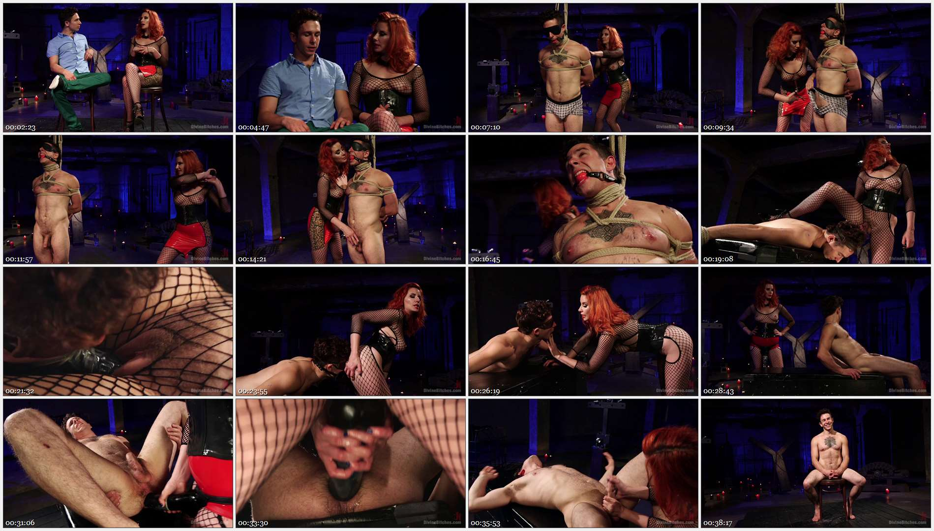 Maitresse Madeline Marlowe – Corbin Dallas – The Maitresse Milks Virgin Prostate and Punishes Dripping Cock! 
