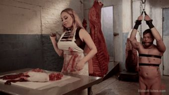 Aiden Starr – Mike Panic – Sadistic Butcher Hazes Meatboy 