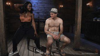 Kelli Provocateur – Jonah Marx – Ebony Dominatrix Kelli Provocateur Punishes Sub Man and Fucks His Ass! 