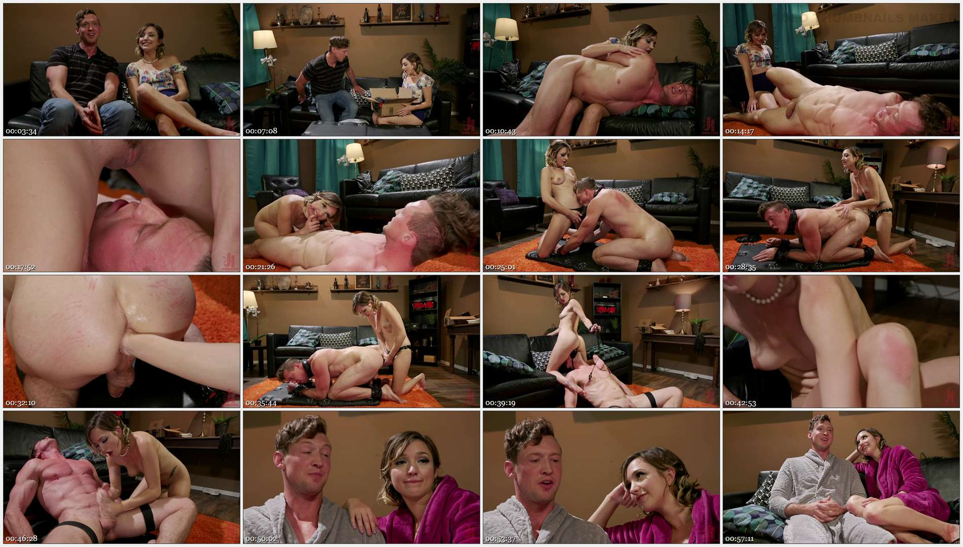 Eliza Jane – Pierce Paris – Date Night: Eliza Jane Stuffs Pierce Paris\' Balls in His Ass 