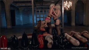 Francesca Le – Riley Jenner – Anikka Albrite – Ass play with two Blonde Babes in Toy Land!