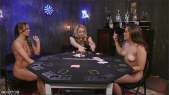 Aiden Starr – Kimber Woods – Cheyenne Jewel – Strip Poker: Three Anal Whores Go All In
