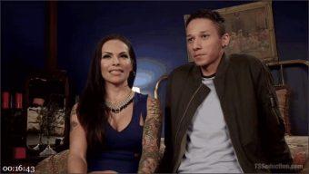TS Foxxy – Justin DeLeon – New roommate pays rent sucking TS Foxxy cock!