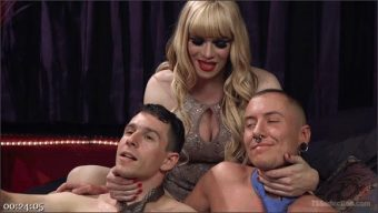 Corbin Dallas – James Darling – Jesse – TS Dominatrix Jesse Fucks and Punishes a Submissive Man AND a TS Man!
