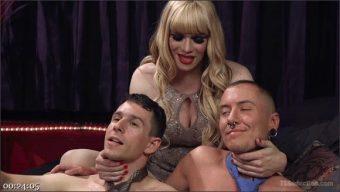 Corbin Dallas – James Darling – Jesse – TS Dominatrix Jesse Fucks and Punishes a Submissive Man AND a TS Man!