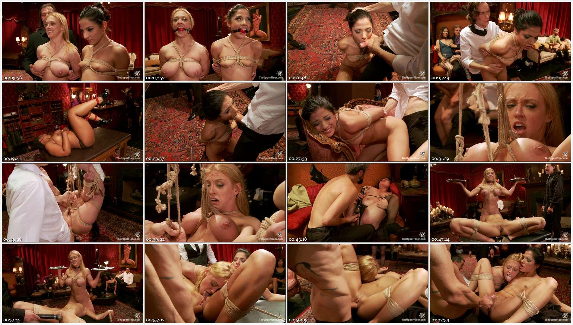 Evilyn Fierce – Owen Gray – Dee Williams – Big Tits Blonde Slave Suspended for Anal Fuck vs. Petite Cock Sucker
