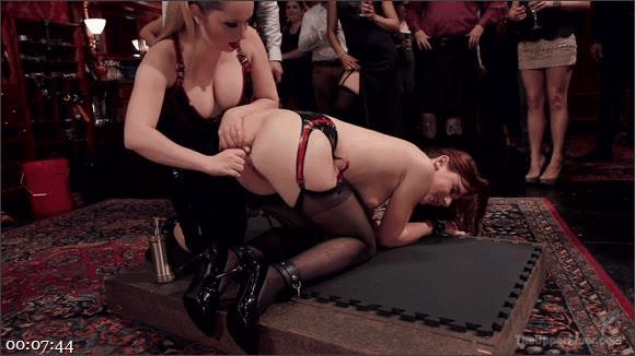 John Strong – Aiden Starr – Audrey Holiday – Latex Slave Girl Anally Debased By Dick Hungry Governess_cover