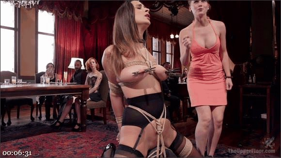 John Strong – Ashley Adams – Fresh 19 Year Old Tied Tight and Made to Serve Orgy_cover