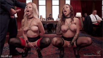 Simone Sonay – Bill Bailey – Karmen Karma – Busty Slave Girl Anally Destroyed at Kinky Brunch