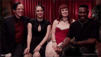 Xander Corvus – Aiden Starr – Kimber Woods – Roxanne Rae – Holiday BDSM Slut Orgy turns Fangirl to Sex Slave
