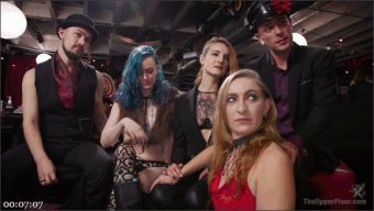 Aiden Starr – Kira Noir – Melissa Moore – Owen Gray – The Upper Floor Returns With a Squirting Slave Fuck Fest