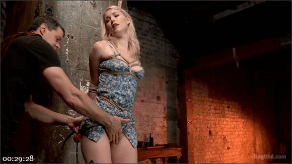 Suspended Anal Invasion for Newbie Blonde Squirting Slut_cover