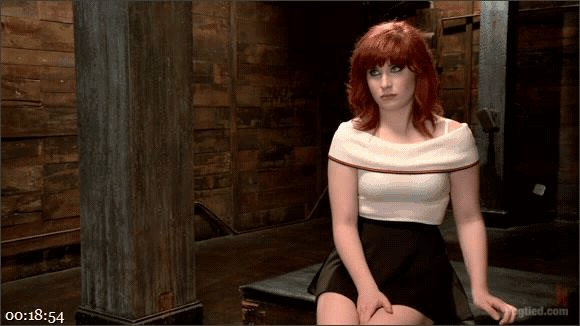 Sadie Kennedy – 18 Year Old Redhead Slut Fucked Silly in Tight Bondage_cover