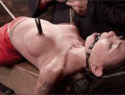 Sgt. Major – Raven Bay – Big tit Brunette caught in brutal bondage.