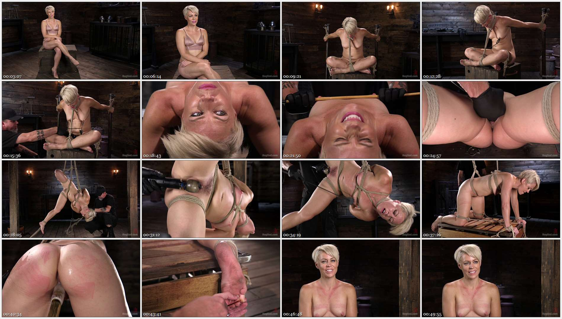 The Pope – Helena Locke – Blonde Buff MILF Helena Locke Made to Cum in Tight Rope Bondage!!