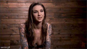 Rocky Emerson – Tall Tattooed Slut in Grueling Bondage is Blissfully Suffering