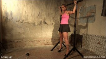 Sweet Cat Sandy – Richy – Hot Blonde Sandy Gets A Vibrator Training In The Basement
