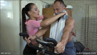 Eveline Delay – Marcel Lee – Muscle Hunk Handcuffed To His Exercise Bike And Made To Cum