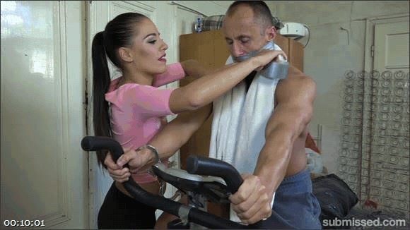 Eveline Delay – Marcel Lee – Muscle Hunk Handcuffed To His Exercise Bike And Made To Cum_cover