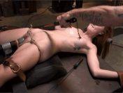 Mr. Pete – Megan Winters – Redheaded Girl Next Store Megan Winters Fucked in Brutal Rope Bondage!