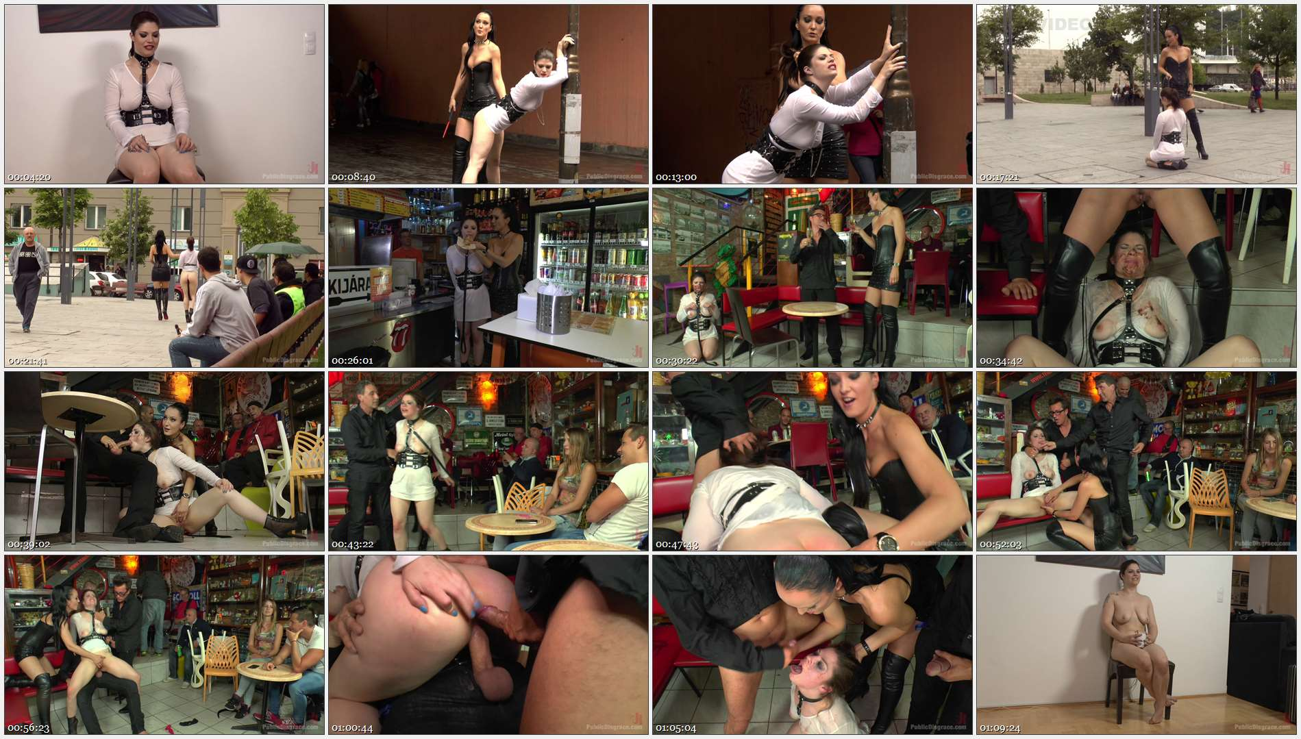 Fetish Liza – Steve Holmes – Conny Dachs – Lucia Love – Disgusting Piss Guzzling Slut Paraded Through Budapest