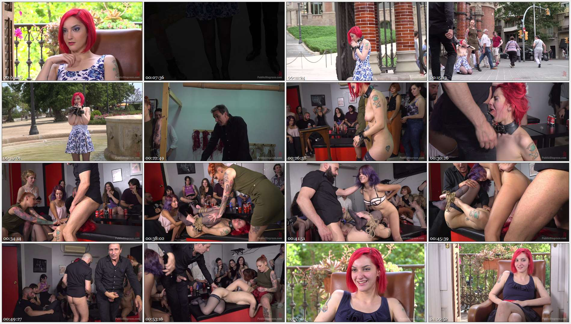 Steve Holmes – Max Cortes – Silvia Rubi – Susy Blue – Margout Darko – Petite Natural Whore Shamed in Public and Gang Fucked in Rope Bondage!