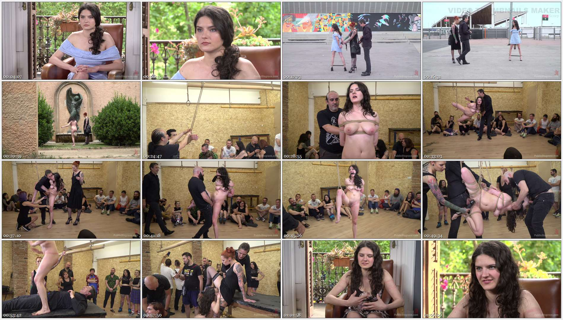 Steve Holmes – Francesca DiCaprio – Max Cortes – Silvia Rubi – Young Whore Francesca DiCaprio Shamed, Tied-Up, and Fucked in Public!
