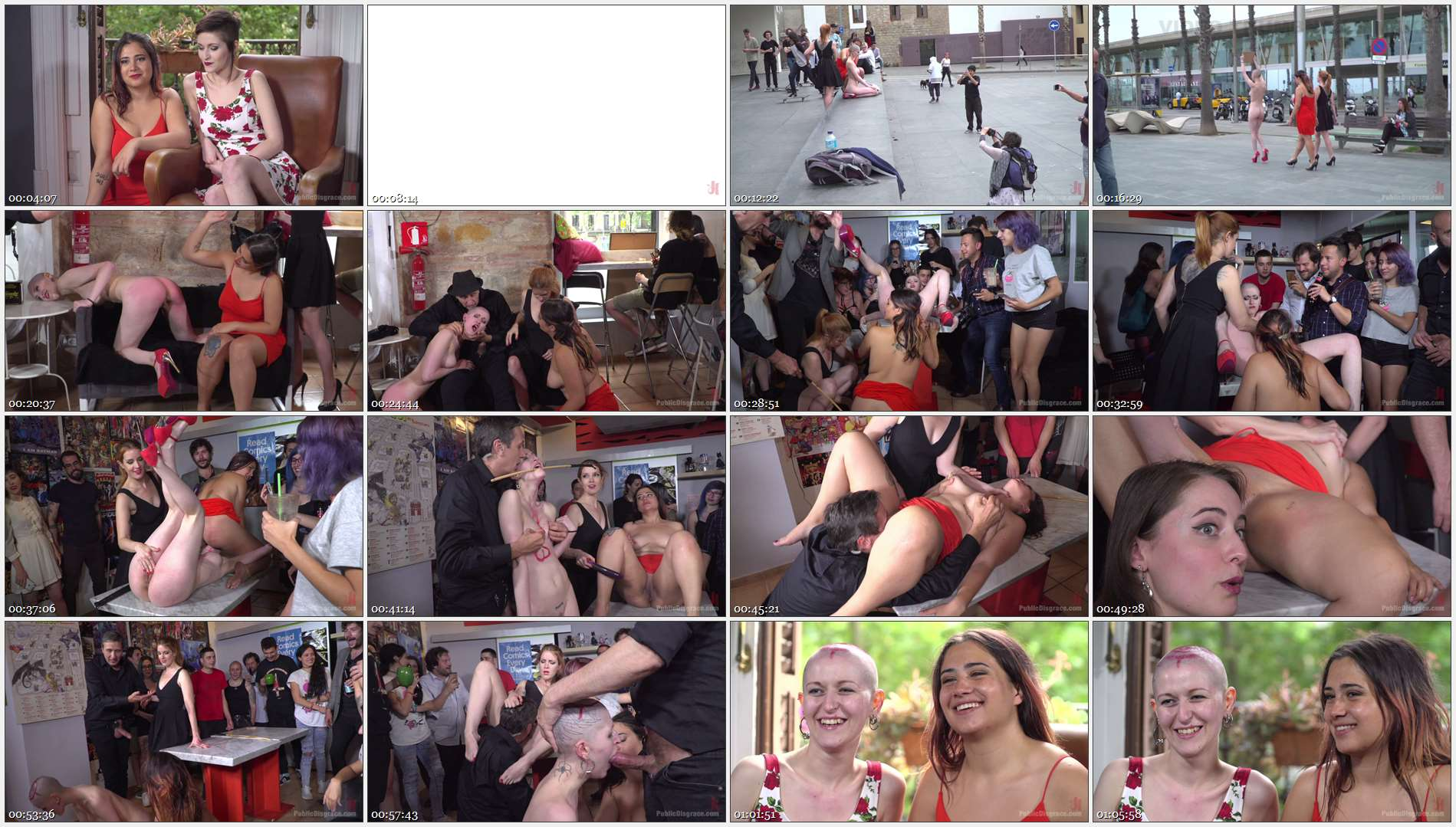 Steve Holmes – Irina Vega – Max Cortes – Nerea Falco – Lady Nala – Petite Slut Nerea Falco Shaves Head and Gets Gang Fucked in Public!