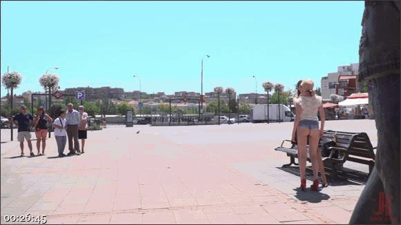 Steve Holmes – Antonio Ross – Tina Kay – Molly Saint Rose – Petite Whore Molly Saint Rose Fucked and Humiliated in Public Plaza!!_cover