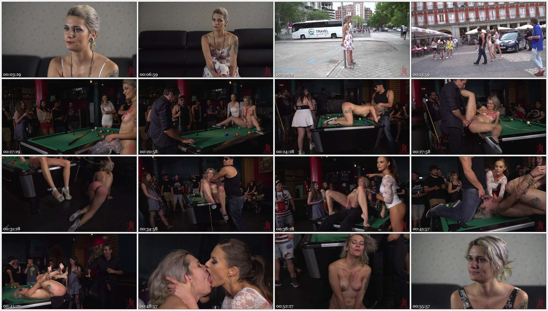 Steve Holmes – Antonio Ross – Tina Kay – Yunno X – Attention Whore Yunno X Humilated, Punished, and Gang Fucked in Public