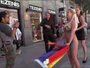 Steve Holmes – Tina Kay – Sienna Day – Busty Blonde Sienna Day Disgraced Fully Nude on Dirty Public Streets