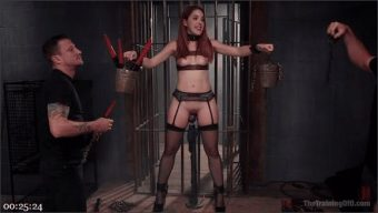 Mr. Pete – Amarna Miller – Redhead Spanish Slave Training – Amarna Miller Day 3