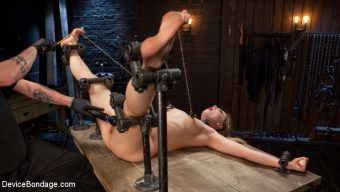 Dahlia Sky – Sexy Blonde Whore is Brutalized in Grueling Bondage