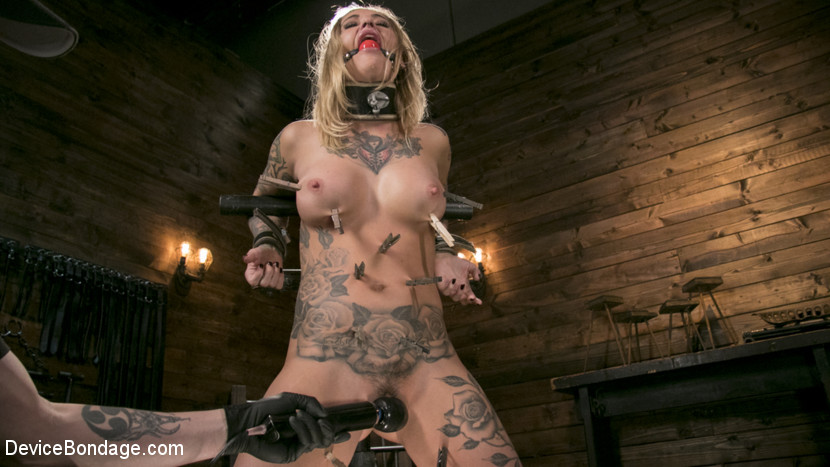 The Pope – Blonde Submissive Bombshell Kleio Valentien Gets Punished and Pleasured in Strict Bondage!!_cover