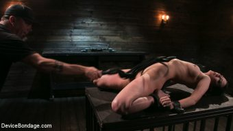 Cherry Torn – Female Slave Cherry Torn Tormented in Metal Bondage and Coerced Orgasm