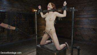 Maya Kendrick – Red Head Slut Gets Destroyed in Diabolical Bondage