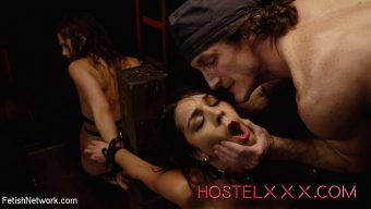 Brick Danger – Hostelxxx Sydney Cole & Olivia Lua – Jacked and Bound at the Hostel