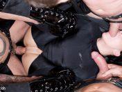 Aliz – Dirty Slut gets Slammed by 3 Gimps