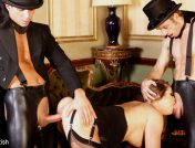 Cathy Heaven – Masked Men In Top Hats Fuck A Dirty Tramp