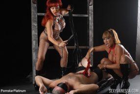 Sexy Vanessa and Ava Devine Humiliating Jake