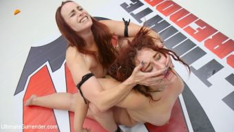 Mimosa – Red Head Destroyed, Cums against her own will, Put into Camel Clutch