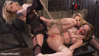 Maitresse Madeline Marlowe – Maitresse Madeline and Aiden Starr haze, domme and fuck Mona Wales!