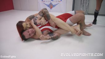 Mistress Kara – Powerful Red Head Wrestler Destroys Male Opponent then Fucks Him