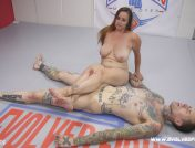 Bella Rossi – Bella Rossi Takes her prize after dominating in wrestling match