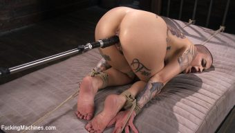 Leigh Raven – Tattooed Slut Machine Fucked in Tight Bondage