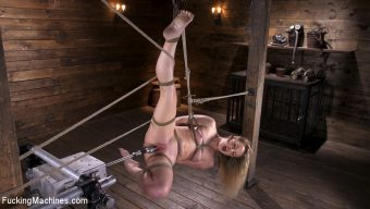 Kate Kennedy – Brand New Blonde in Bondage and Machine Fucked