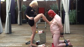 Baroness Davina Dust – Ep 15 – Sploshing and Ballbusting: Humiliated by the Baroness