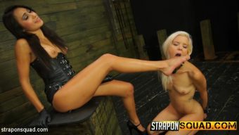 Halle Von – Halle Von Loves Lesbian Domination & Foot Worship with Marina Angel