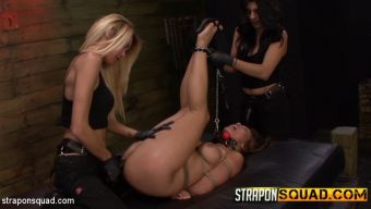 Lexy Villa – Lexy Villa & Mila Blaze Wreck Mena Li's Pussy with Massive Strapons