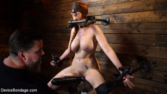 Lauren Phillips – Lauren Phillips: Helpless Redhead in Brutal Bondage Made to Cum